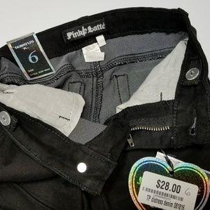 Black Skinny Leg Boutique Jeans Adjustable Waist